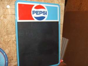 Pepsi Cola Soda Advertising Chalkboard Menu Board Vintage Tin Sign