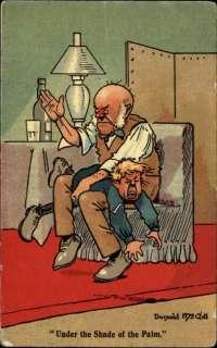 DONALD MCGILL Man Spanking Little Boy ABUSE c1910 Postcard