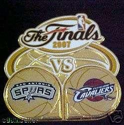 SAN ANTONIO SPURS VS CAVALIERS 2007 NBA FINALS PIN