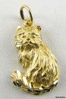 KITTY CAT CHARM   14k yellow Gold Estate Pet Pendant
