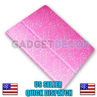 PAD 2 PINK GLITTER LEATHER PORTFOLIO CASE STAND COVER POUCH