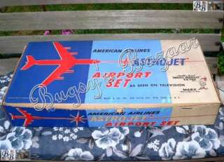 1960s Marx Vintage American Airlines ASTROJET Airport Play Set Toy