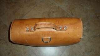 vintage LEATHER MESSENGER bag LETTER carrier BRIEFCASE HORSE satchel