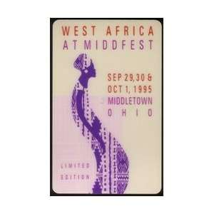 Collectible Phone Card 10u West Africa At Middfest (Ohio