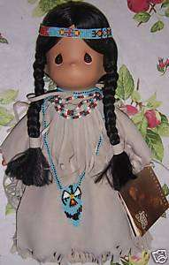 RARE PRINCESS SINCERE 1990 PRECIOUS MOMENTS 16 NATIVE AMERICAN DOLL