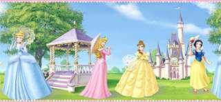 Disney PRINCESSES Girls Room WALL BORDER Peel and Stick