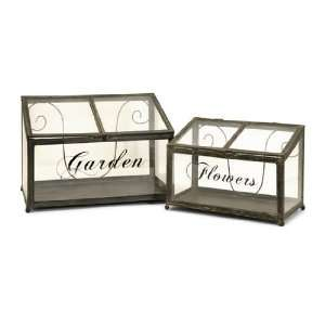and Clear Glass Table Top Solar Greenhouse Boxes Patio, Lawn & Garden