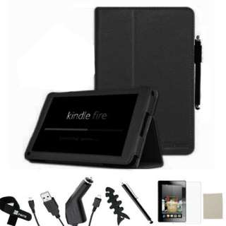 Leather Case/Screen Protector/Car Charger/USB Cable/Stylus