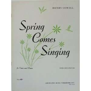 Voice and Piano Henry Cowell (composer), Dora Hagemeyer (lyrics