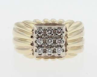 Genuine Diamonds Solid 14k Gold Band Mens Pinky Ring Size 6