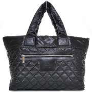 nylon coco cocoon large tote black images condition details shipping