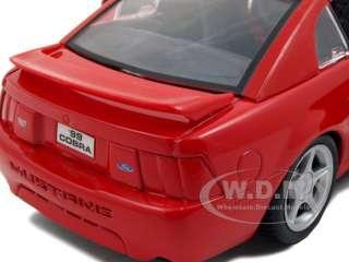 1999 FORD MUSTANG SVT COBRA RED 124 DIECAST MODEL CAR