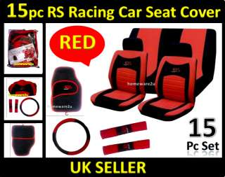 This Red and Black high quality car seat cover set is a brilliant set