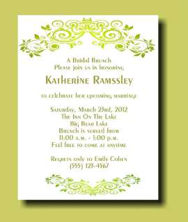 12 Personalized Bridal shower Party Invitations