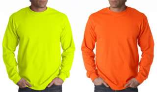 Safety Shirts, Neon Colors, Long Sleeve, Sizes up to 5X