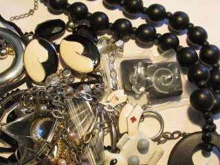 Vintage Junk Jewelry Craft Lot*Necklaces earrings +*lbs*Creative Reuse
