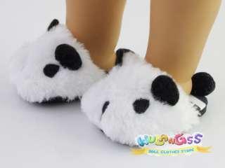 Cute Panda Slippers fits 18 American Girl doll