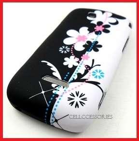SIDEKICK 4G WHITE BLACK PINK FLOWERS HARD COVER CASE