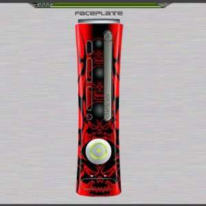 Xbox 360 Red Skull Skin for Faceplate 96065 Video Games