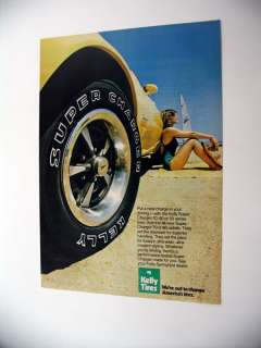 Kelly Super Charger Tires beach scene 1979 print Ad