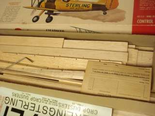 STERLING STEARMAN PT 17 RADIO CONTROLLED MODEL AIRPLANE KIT