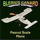 PEANUT SCALE BLERIOT CANARD SCALE MODEL AIRPLANE PLANS INCLUDES