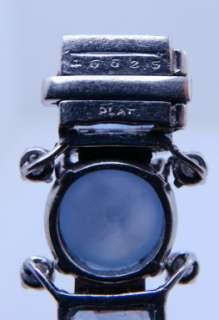 Ladies Designer Oscar Heyman Platinum Diamond Sapphire Bracelet