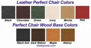 PC 6 PERFECT CHAIR Black Leather Maple Wood Recliner
