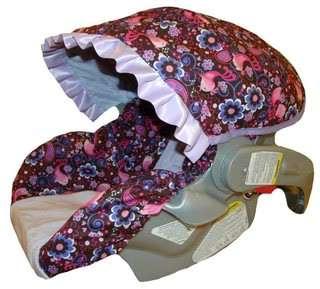 Girl Infant/Baby Car Seat Slip Cover Birdsong