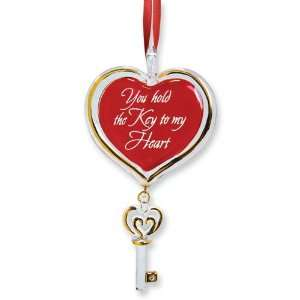 Key To My Heart Glass Ornament Jewelry