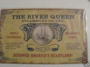 River Queen Vintage look decor Steamboat Metal Tin Sign