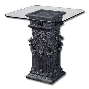 Gargoyle Display Furniture Table with Glass Top