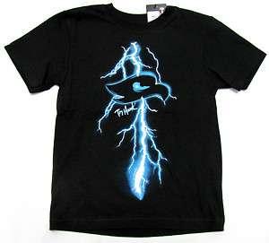 TONY HAWK Boys Black Lightning Bolt Tee Shirt NWT