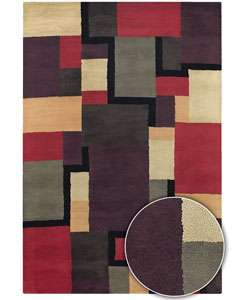 Hand tufted Contemporary Rosetta Wool Rug (5 x 8)