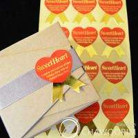 Gold Stickers Packing Material/Gift wrap 3cmx3.8cm/1.2inx1.5in