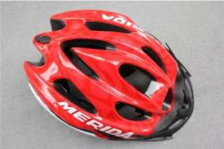 NEW Cycling Bicycle MERIDA Adult Mens Bike Helmet Red