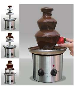 Stainless Steel Chocolate Fondue Tower  Overstock