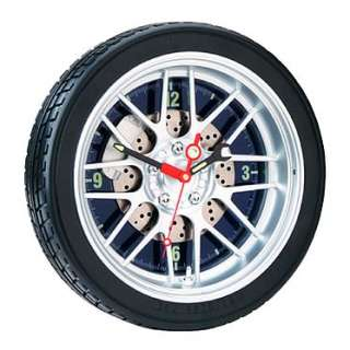 14 Car Wheel Tire G48 Rim Automotive Garage Shop Wall Clock Racing