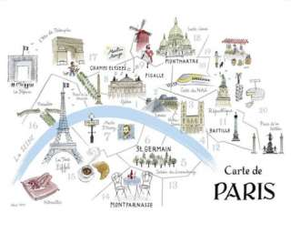 Map of Paris Prints by Alice Tait at AllPosters
