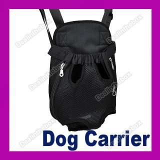 Nylon Pet Dog Carrier Backpack Net Bag Any Legs Out Front Style