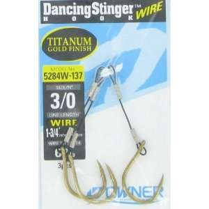 Owner American Corp Dancing Stinger Gold Titanium Size 3/0