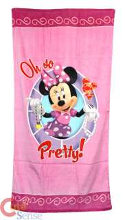 Disney Minnie Mouse Pink Beach, Bath Towel  Cotton 30x60