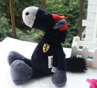 Cute NICI Black Ferrari Horse Stuffed Animals 28CM