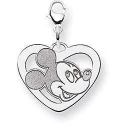 Sterling Silver Disneys Mickey Mouse Heart Charm