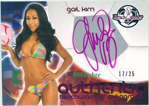 2010 BENCHWARMER SS INTERNATIONAL AUTO: GAIL KIM #17/25 AUTOGRAPH