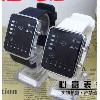 New Fashion Binary SystemLED Light Mens Fashion Wrist Watch Good