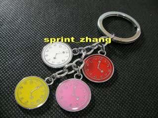 Fashion keychain keyring key chain ring clock