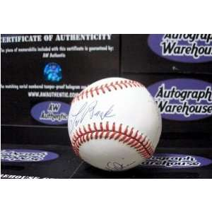 Lou Brock Paul Blair Davey Johnson Autographed Baseball