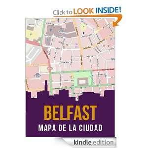 Belfast, Irlanda del Norte mapa de la ciudad (Spanish Edition