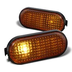 HONDA CIVIC EX LX DX SMOKED AMBER SIDE FLAT MARKER LIGHT
